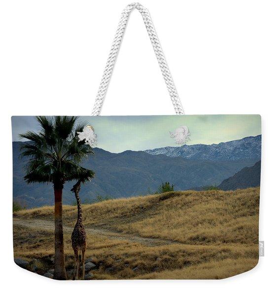 Desert Palm Giraffe 001 Weekender Tote Bag