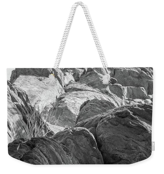 Weekender Tote Bag featuring the photograph Desert Rock Formation by Frank DiMarco