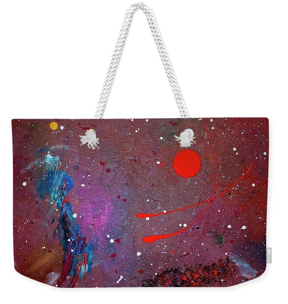 Weekender Tote Bag featuring the painting Desert Song by Michael Lucarelli