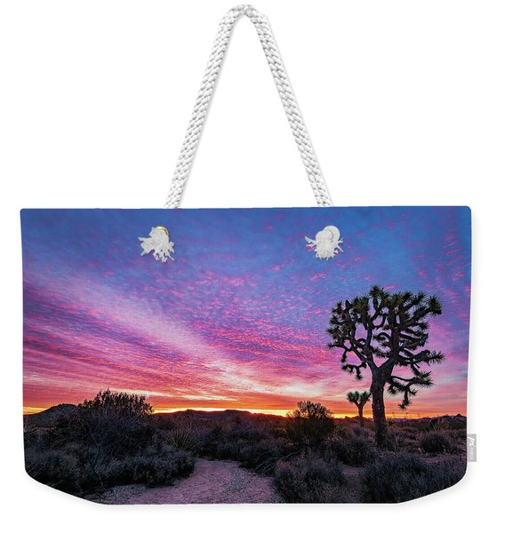 Desert Sunrise At Joshua Tree Weekender Tote Bag