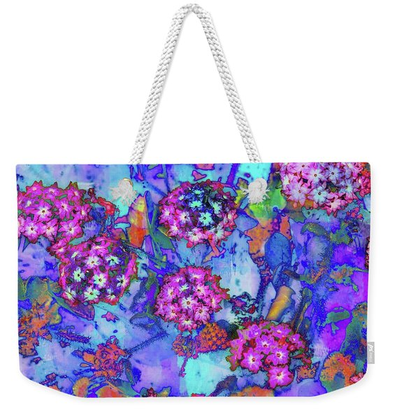 Weekender Tote Bag featuring the photograph Desert Vibe Bloom by Michael Hope