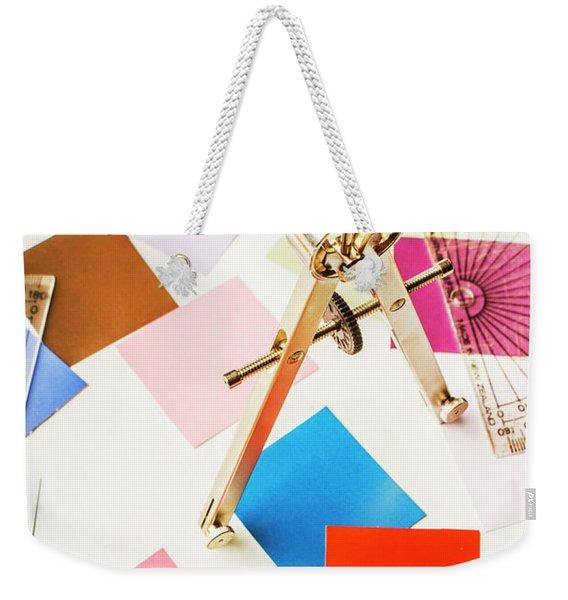 Design In Abstract Geometry Weekender Tote Bag