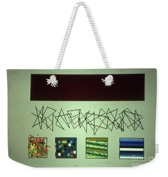 Design Lines Shapes Weekender Tote Bag