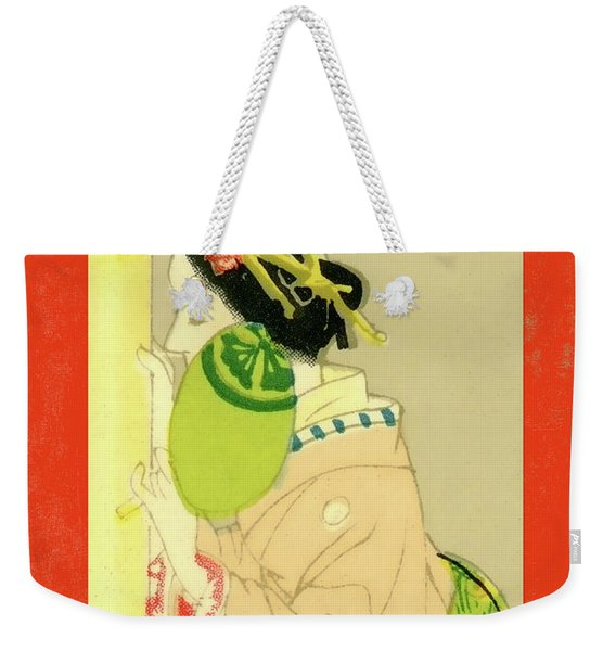 Designer Series Japanese Matchbox Label 129 Weekender Tote Bag