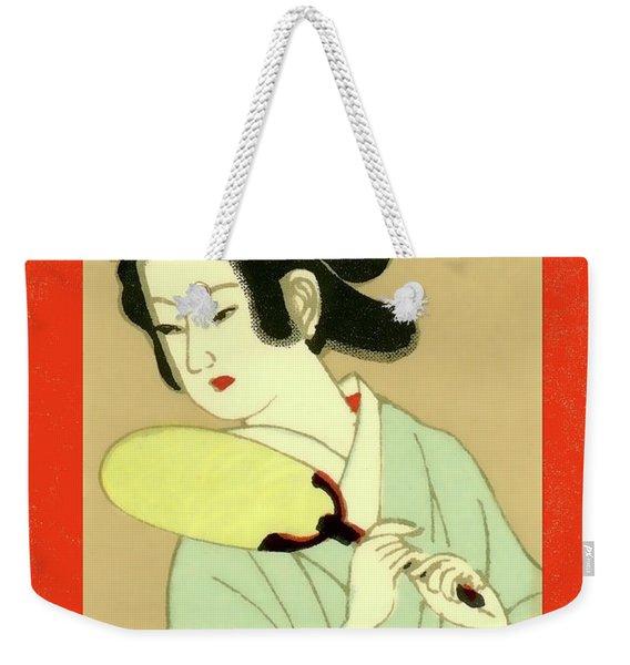 Designer Series Japanese Matchbox Label 130 Weekender Tote Bag