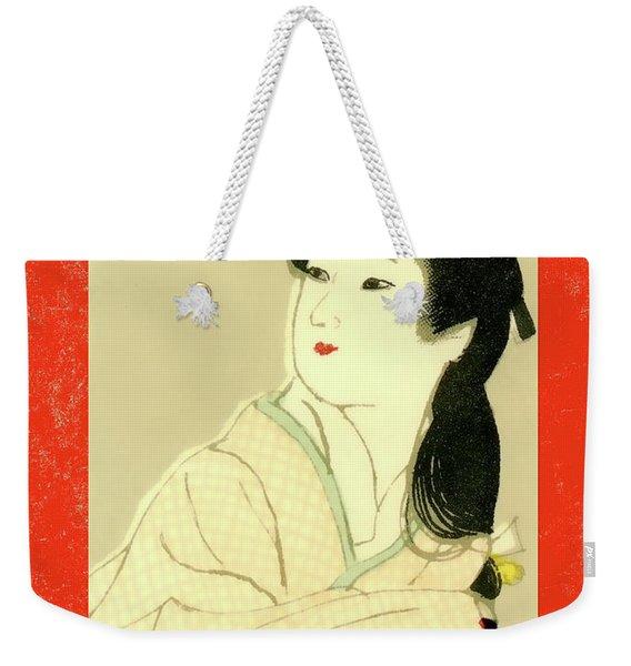 Designer Series Japanese Matchbox Label 132 Weekender Tote Bag