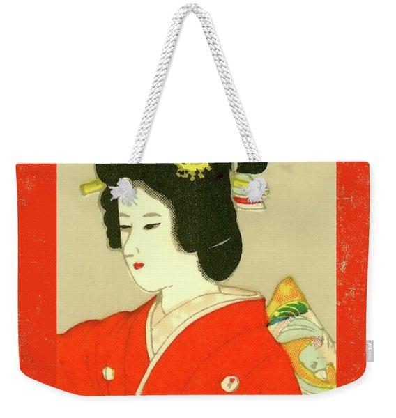 Designer Series Japanese Matchbox Label 133 Weekender Tote Bag