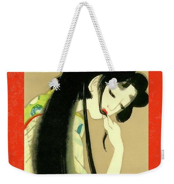 Designer Series Japanese Matchbox Label 134 Weekender Tote Bag