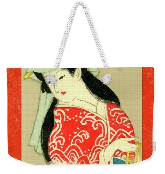 Designer Series Japanese Matchbox Label 135 Weekender Tote Bag