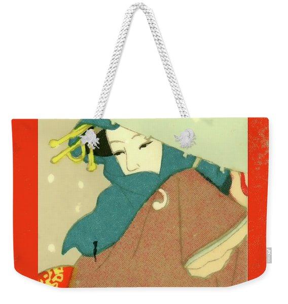Designer Series Japanese Matchbox Label 136 Weekender Tote Bag