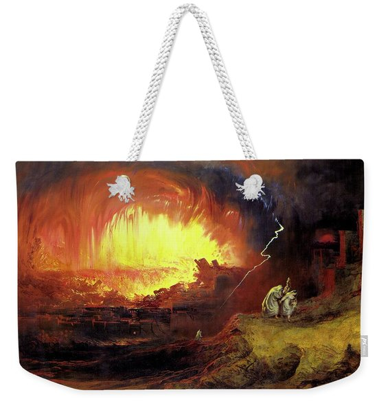Destruction Of Sodom And Gomorah Weekender Tote Bag
