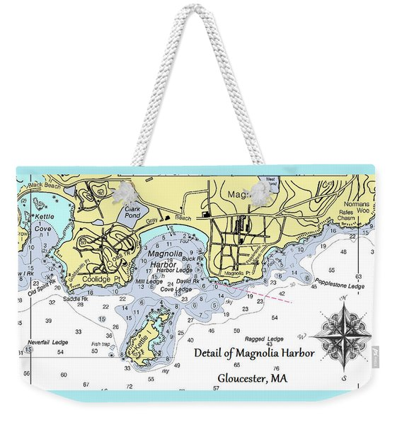 Detail Of Magnolia Harbor Weekender Tote Bag