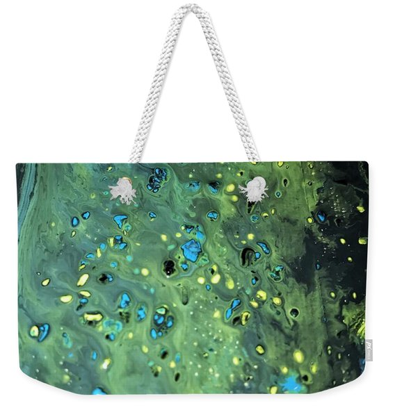 Detail Of Mixed Media Painting Weekender Tote Bag
