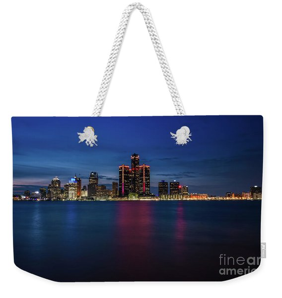 Detroit At Night 4 Weekender Tote Bag