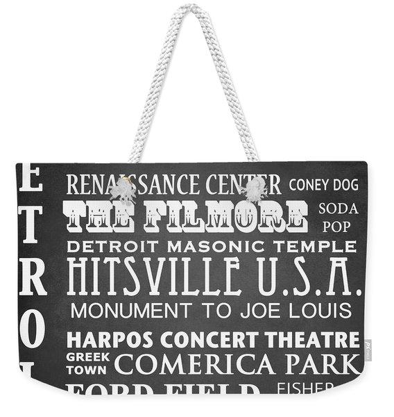 Detroit Famous Landmarks Weekender Tote Bag