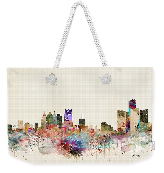 Detroit Michigan City Skyline Weekender Tote Bag