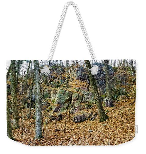 Devils Lake Rock Formation  Weekender Tote Bag