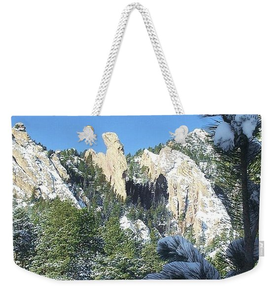Devil's Thumb In Winter Weekender Tote Bag