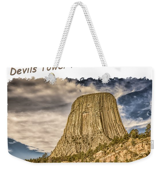 Devils Tower Inspiration 2 Weekender Tote Bag