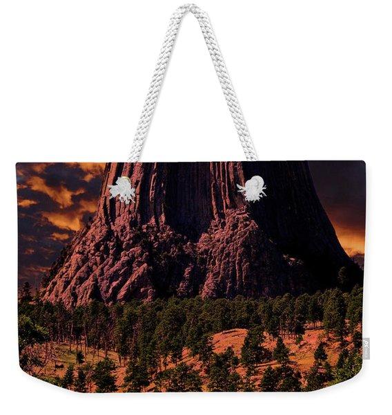 Devils Tower Sunrise Weekender Tote Bag