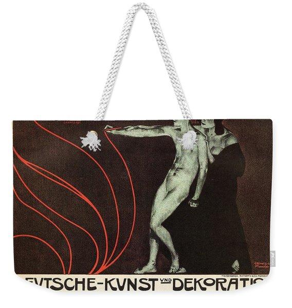 Deutsche-kunst Und Dekoration - German Art - Retro Travel Poster - Vintage Poster Weekender Tote Bag