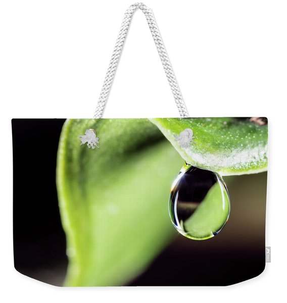 Dew Drop Weekender Tote Bag