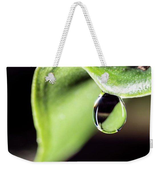 Dew Drop Weekender Tote Bag