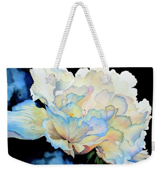 Dew Drops On Peony Weekender Tote Bag
