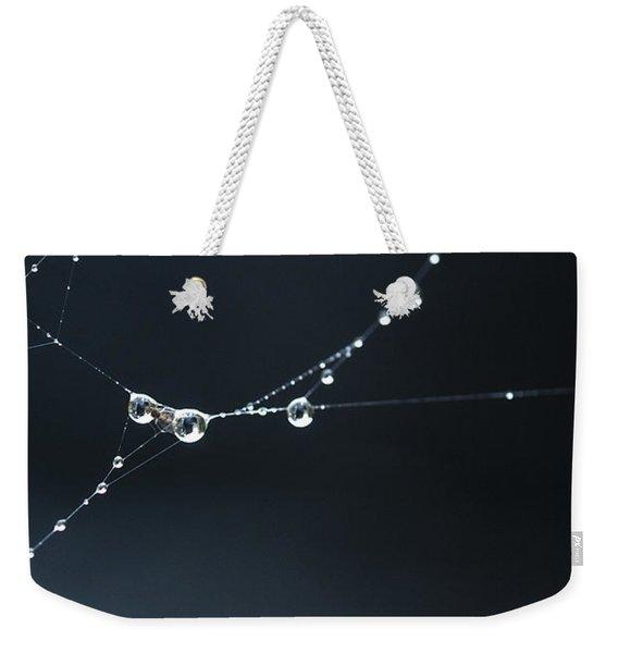 Dew On Cobweb 001 Weekender Tote Bag