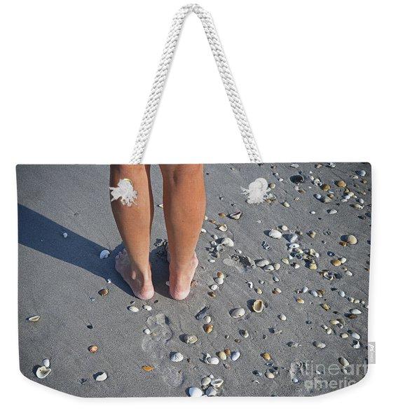 Dez Feet On Beach Weekender Tote Bag