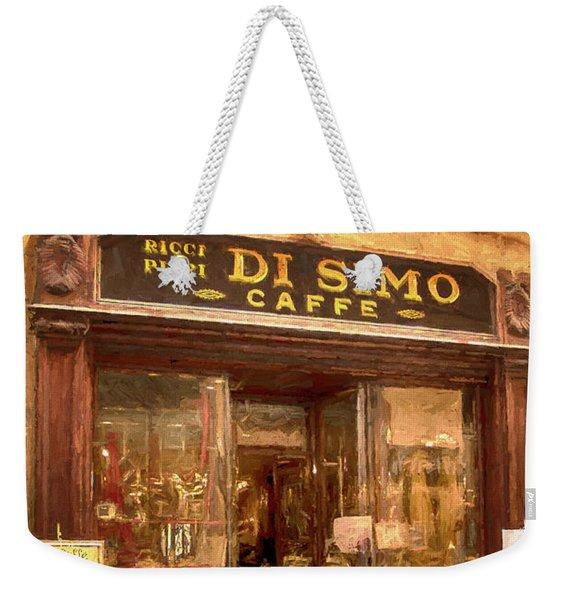 Di Simo Caffe Weekender Tote Bag