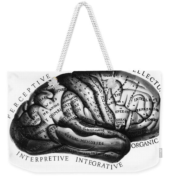 Diagram Of Brain Functions Weekender Tote Bag