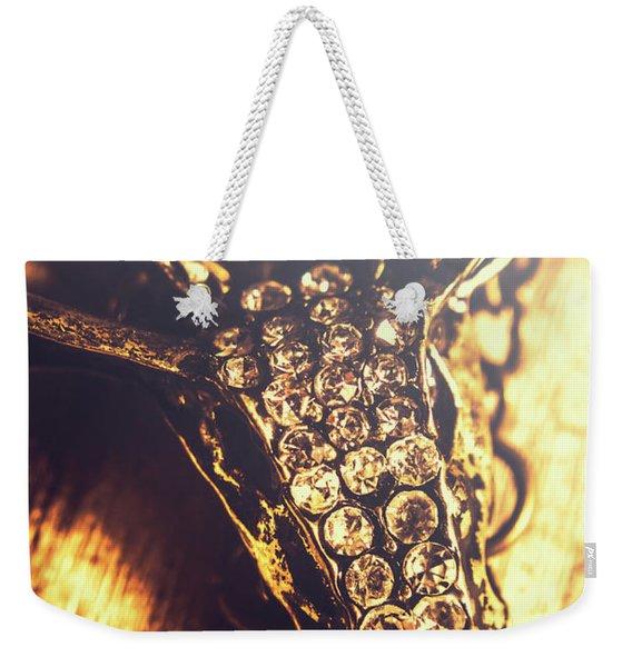 Diamond Encrusted Wildlife Bracelet Weekender Tote Bag