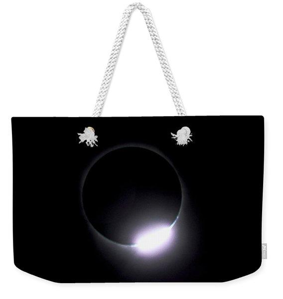 Diamond Ring During Solar Eclipse Weekender Tote Bag