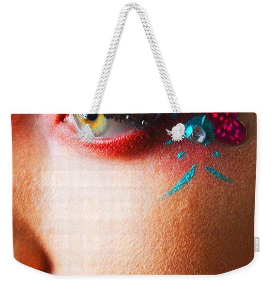 Diamond With Pink Weekender Tote Bag