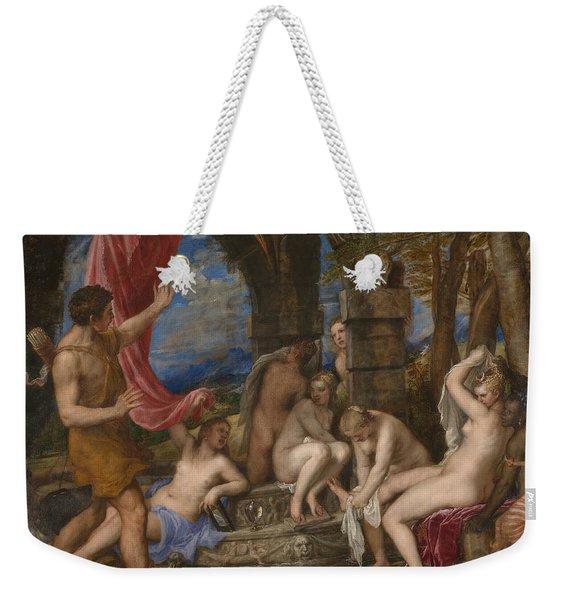 Diana And Actaeon Weekender Tote Bag