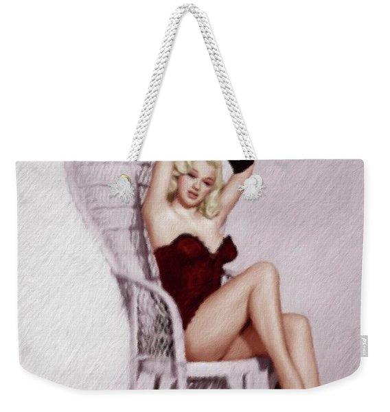 Diana Dors, British Pinup And Actress Weekender Tote Bag