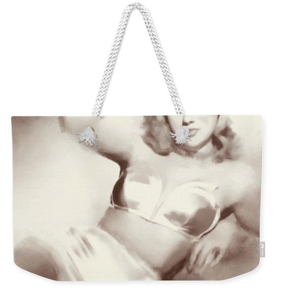 Diana Dors, Vintage Actress Weekender Tote Bag