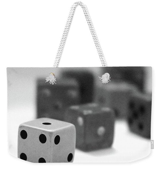 Dice 1- Black And White Photo By Linda Woods Weekender Tote Bag