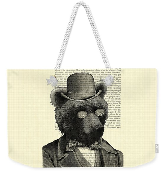 Bear Portrait - Animals In Suits Weekender Tote Bag