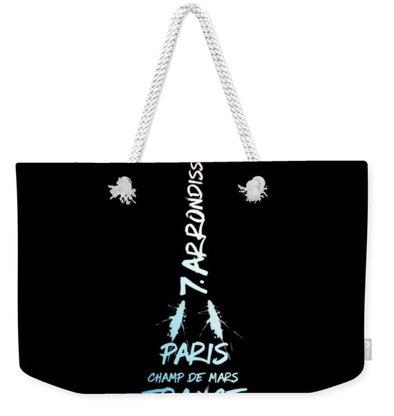 Digital-art Eiffel Tower National Colours Weekender Tote Bag