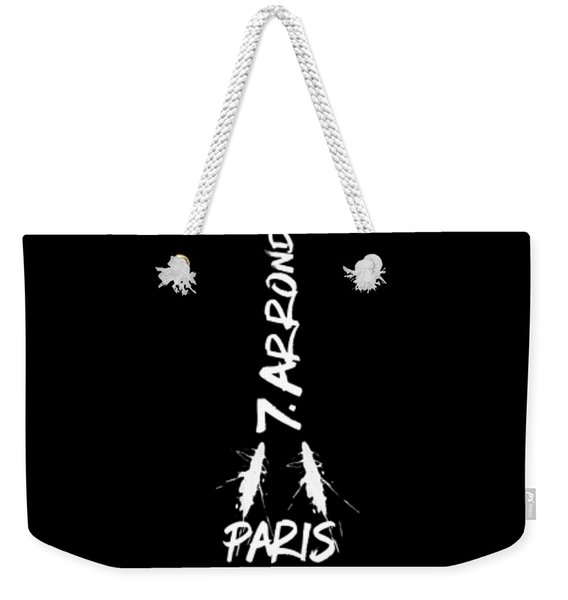 Digital-art Eiffel Tower - Panoramic Weekender Tote Bag