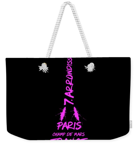 Digital-art Eiffel Tower Pink Weekender Tote Bag