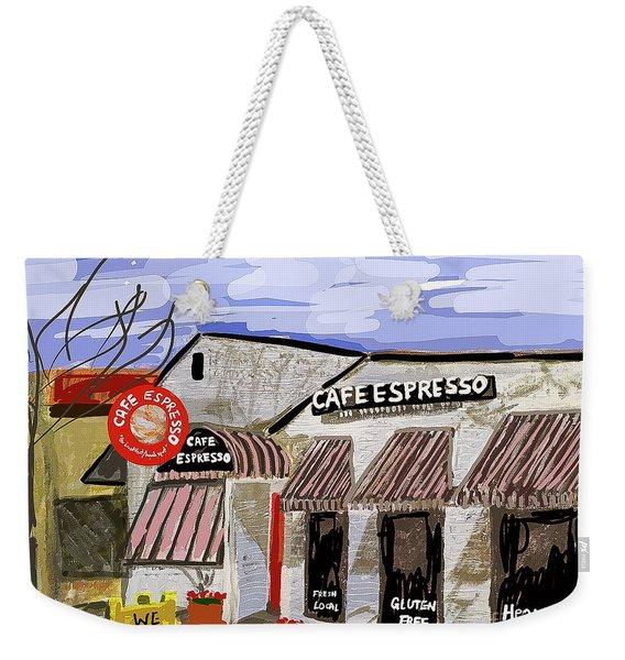 Digital Cafe Weekender Tote Bag
