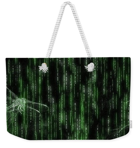 Digital Dragonfly Weekender Tote Bag