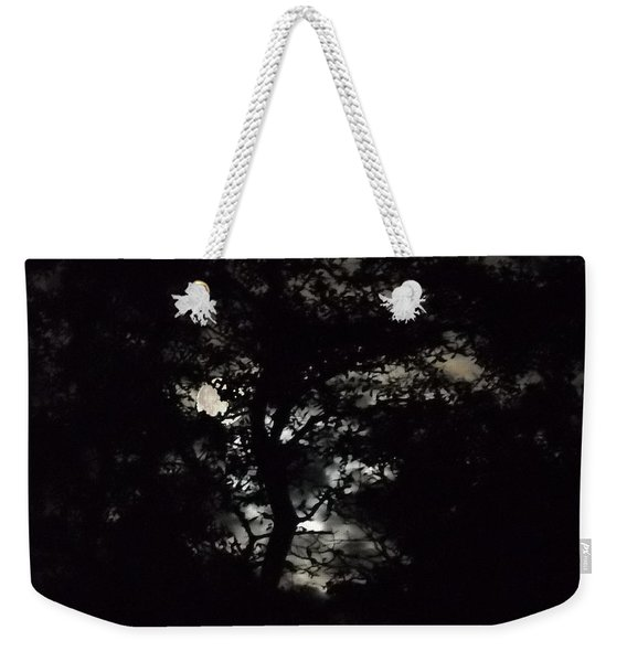 Digital Fine Art Work Full Moon Trees Gulf Coast Florida Weekender Tote Bag