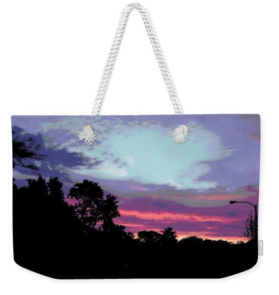 Digital Fine Art Work Sunrise In Violet Gulf Coast Florida Weekender Tote Bag