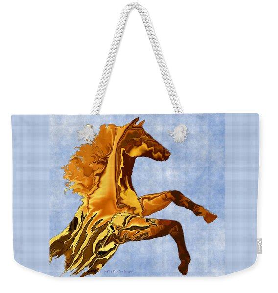 Digital Horse 2 Square Weekender Tote Bag