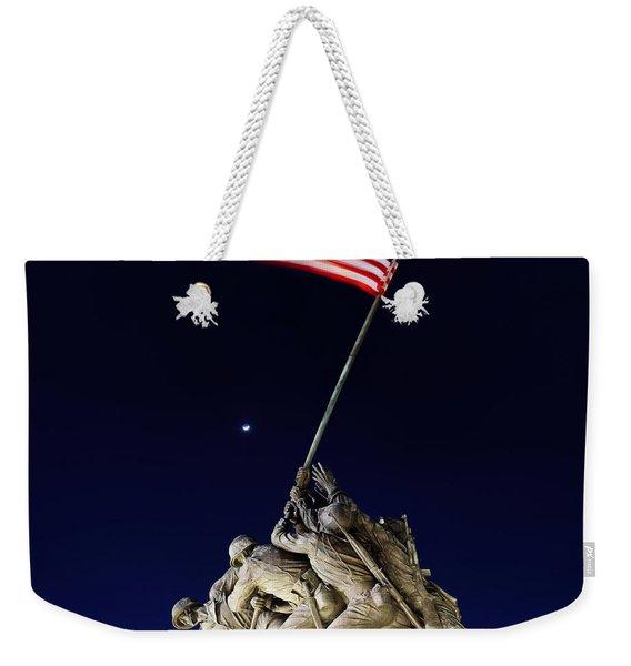 Digital Liquid - Iwo Jima Memorial At Dusk Weekender Tote Bag