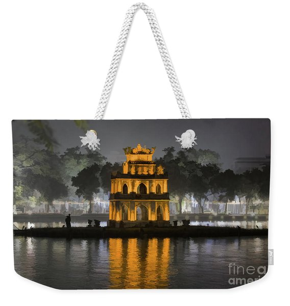 Digital Paint Turtle Tower Hanoi Iv  Weekender Tote Bag